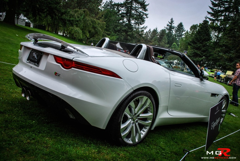 Jaguar F-type white rear