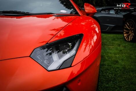 Lamborghini Aventador headlight