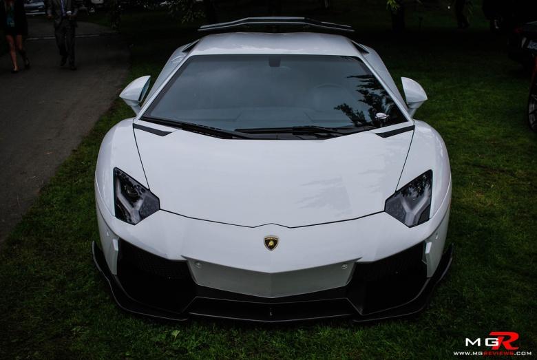 Lamborghini Aventador white front