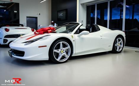 Ferrari 458 Spyder white-4