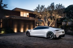 Tesla Roadster White